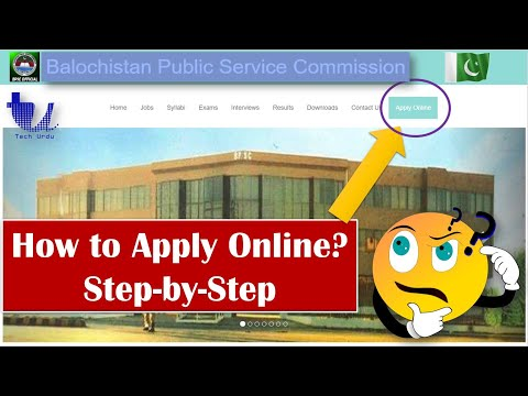 How to Apply Online on BPSC (Balochistan Public Service Commission) for Posts?