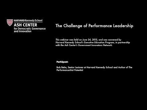 The Challenge of Performance Leadership