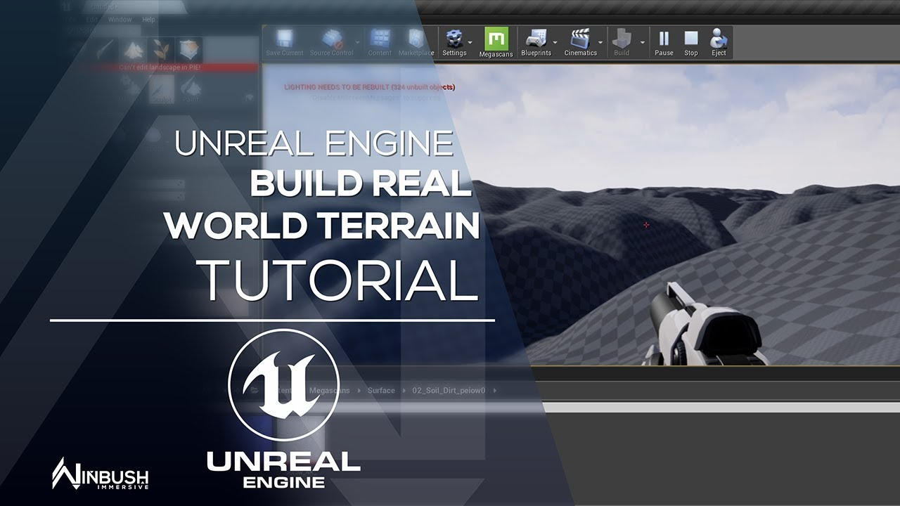 Build your terrain in Unreal Engine using realworld map data & height maps