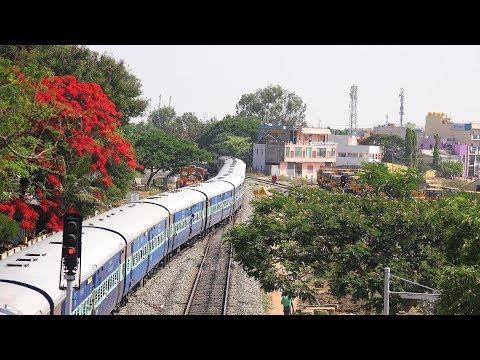 17236 Bangalore Express Leaving Hosur Railway Station, Tamil Nadu: Indian Railways