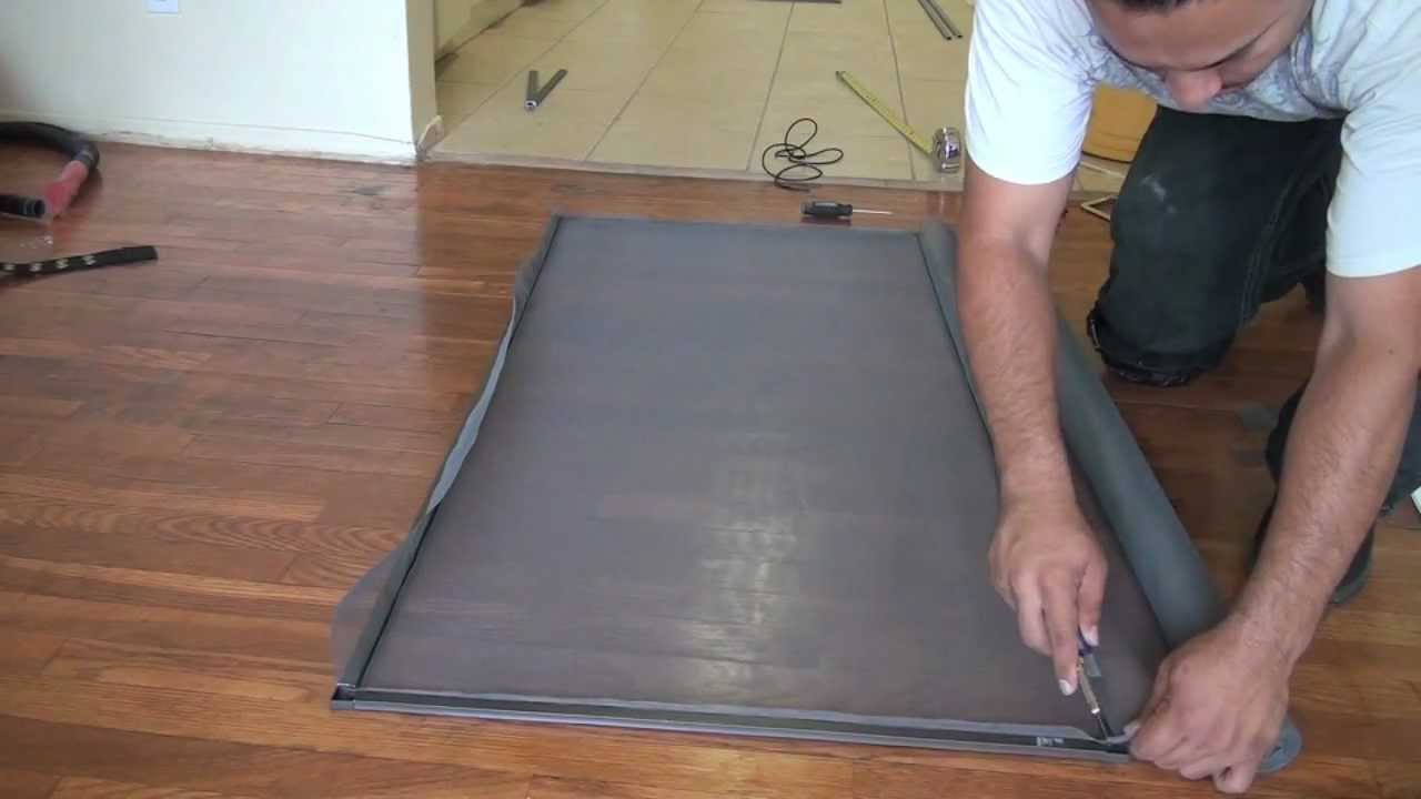 How to make a fly screen door - How To Make A Fly Screen Door 44