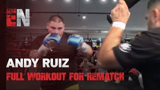 WOW SICK POWER Andy Ruiz Full Workout For Joshua Rematch EsNews Boxing