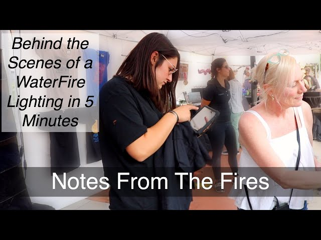 Behind the Scenes of a WaterFire Lighting in 5 Minutes- Notes From the Fires