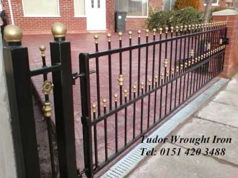 Widnes Tudor Wrought Iron gates  railings widnes