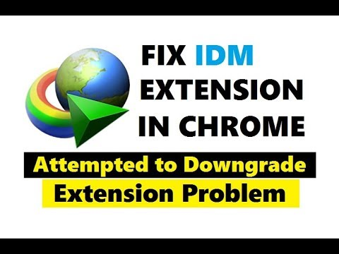How to Fix IDM Extension Problem in Google Chrome | Attempted to downgrade  Error Fixed