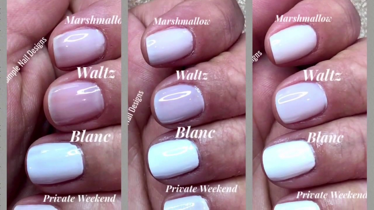 4 BEST ESSIE WHITE NAIL POLISH FROM 1 TO 3 COATS - YouTube