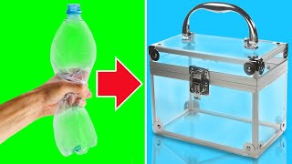 PLASTIC BOTTLES INTO HANDY STUFF || REUSE AND RECYCLE PLASTIC HACKS