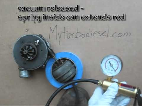 How a VNT turbo actuator works on a VW TDI engine and how to check for proper operation