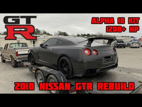 Rebuilding a Wrecked 2010 Nissan GTR 1200+ HP