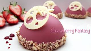 Ruby Chocolate Cake Dessert Recipe - Delicious and Sweet Strawberry Dessert - Make it yourself!