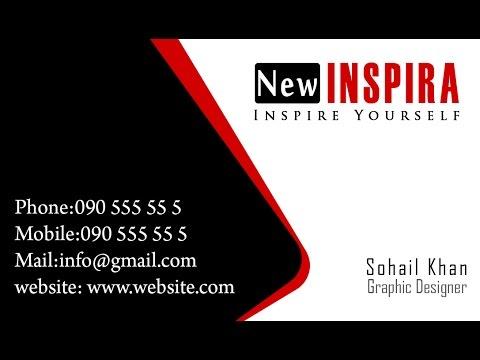 Design a Business Card in Photoshop | Newinspira Tutorial #4
