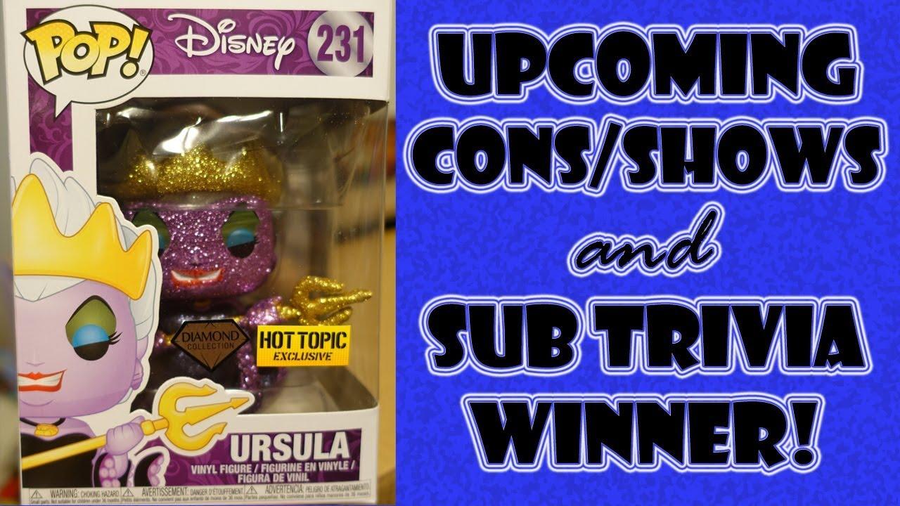 upcoming ca cons shows sub trivia winner for ursula youtube