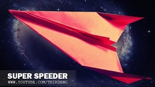 COOL PAPER AIRPLANES - How To Make The S-Speeder Plane | 2 Variants