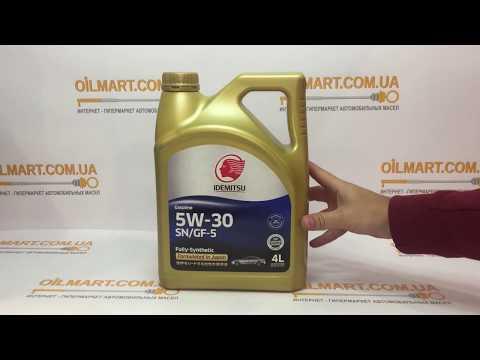 Моторное масло IDEMITSU SAE 5W-30 - Обзор внешнего вида упаковки