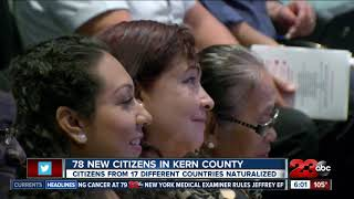 Over 70 new citizens in Kern County