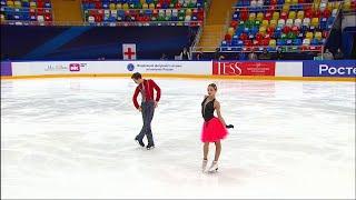 Ритм танец Танцы на льду Юниоры Москва Кубок России по фигурному катанию 2020 21 Второй этап