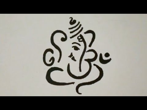 How To Draw Ganesh Chaturthi Special Easy Drawing For Beginners Ganpati Drawing Youtube