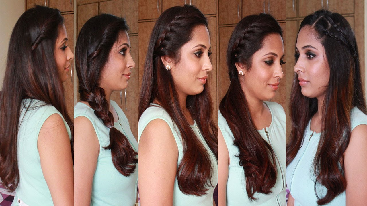 5 Quick Easy Hairstyles Heatless Hairstyles Youtube