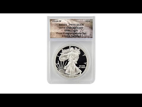 2016 PR70 Congratulations 30th Anniversary Silver Eagle