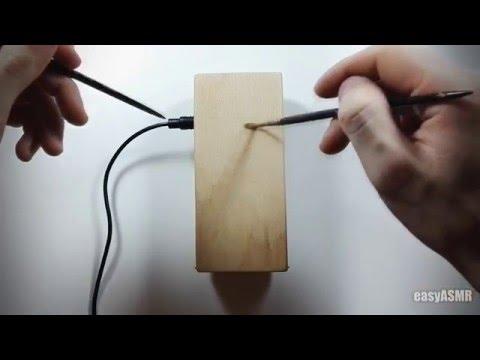 Wood recorder ASMR - no talking -