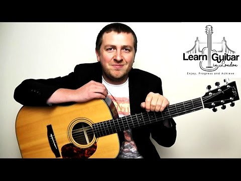 Under The Bridge - Intro Acoustic Guitar Lesson - How To Play - Drue James