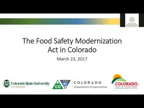 Implementation of FSMA in Colorado March 23, 2017