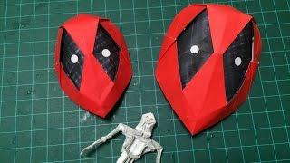 HOW TO MAKE ORIGAMI DEADPOOL MASK 折り紙 デッドプール マスク 作り方