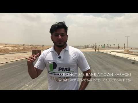 Precinct 36 Sports City Bahria Town Karachi Latest Working Updates on 20th May 2017 by PMS at Site