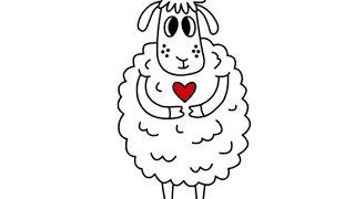 Как нарисовать овечку | How to draw a sheep | Cómo dibujar una oveja