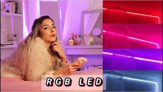 DUVARA ŞERİT RGB LED DÖŞEME & KENDİ RENKLERİMİZİ NASIL YAPABİLİRİZ
