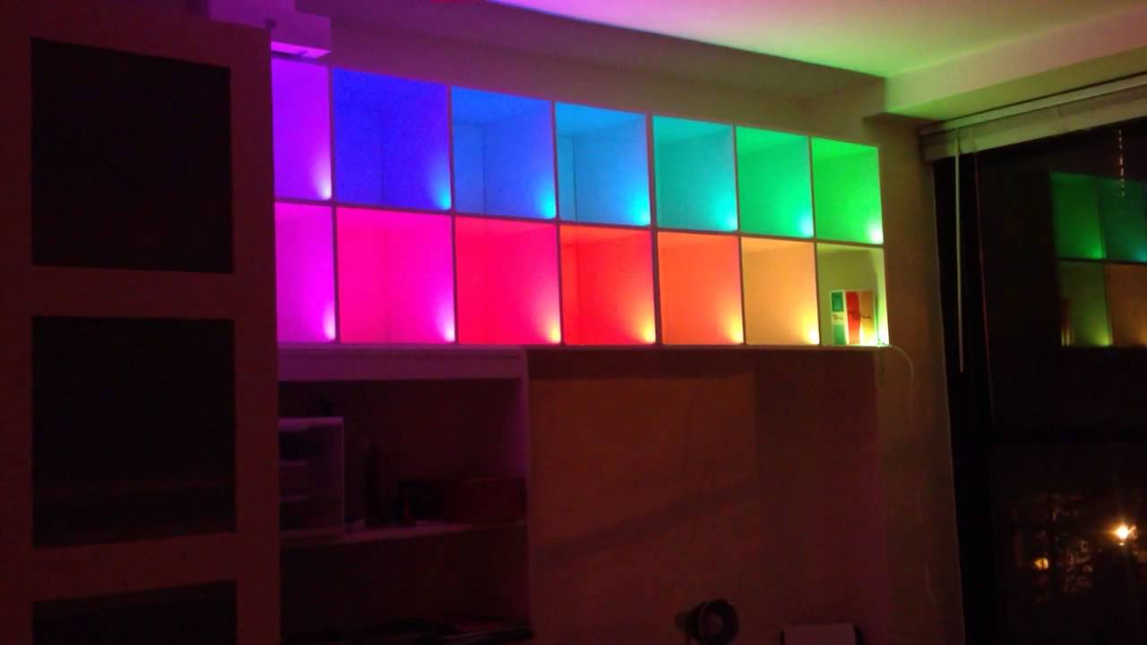 Color changing box shelves with led strips and arduino youtube color changing box shelves with led strips and arduino mozeypictures Images