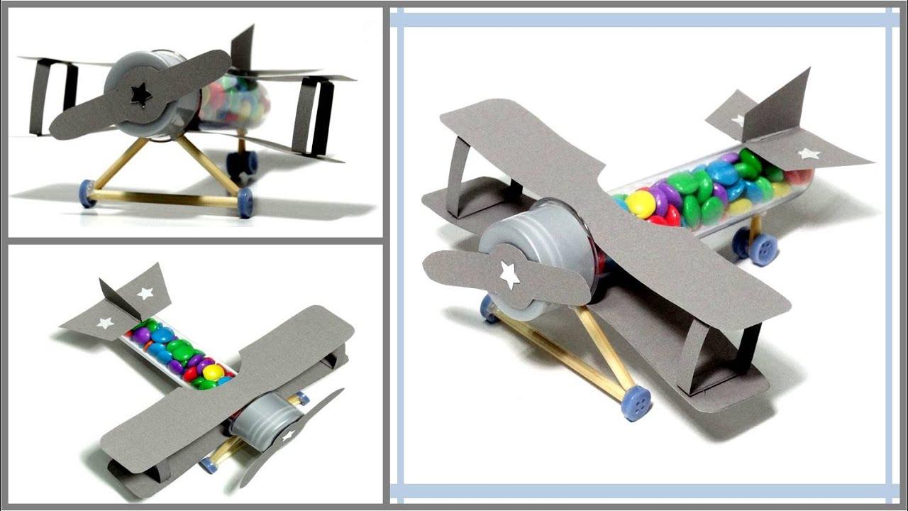 DIY: AVIÃO DE TUBETE COM CHOCOLATE IDEIAS DIY!   #1A7D2C 1502 846