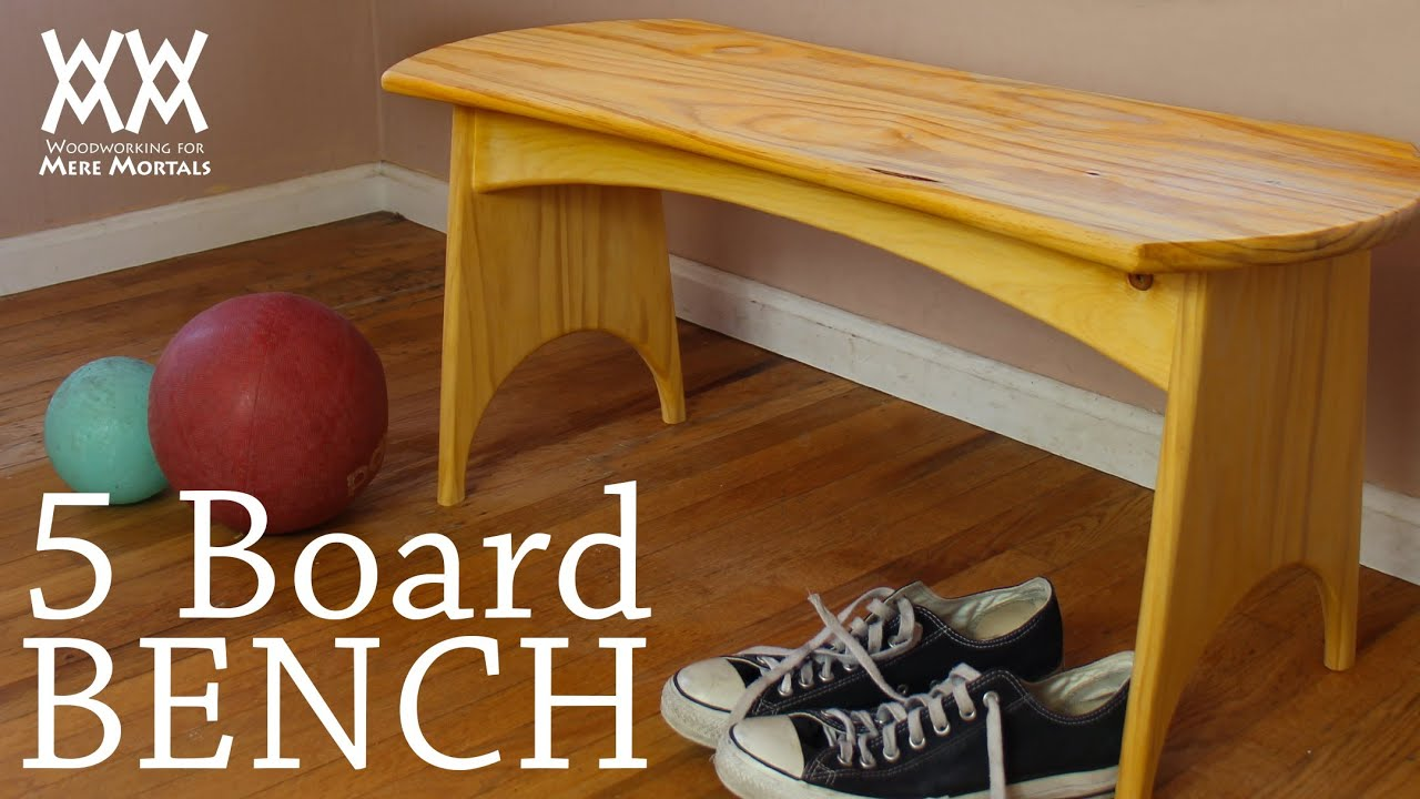 ... this five-board bench in a weekend. Fun woodworking project! - YouTube