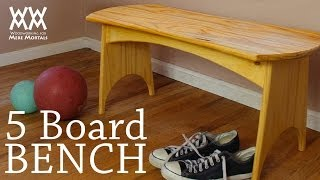 How to build a simple five-board bench | Fun weekend woodworking project Thumbnail