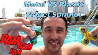 Fidget Spinners Skipping Across Swimming Pool by Professional Fidget Spinner Skipper