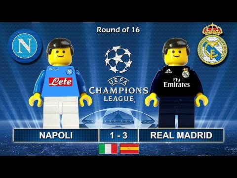 Napoli Vs Real Madrid 1-3 • Champions League 2017 (07/03/2017) Goal Highlights Lego Football