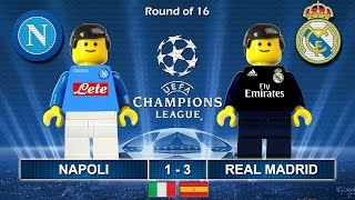 NAPOLI vs REAL MADRID 1-3 • Champions League 2017 • 07/03/2017 ( Film Lego Football Highlights )