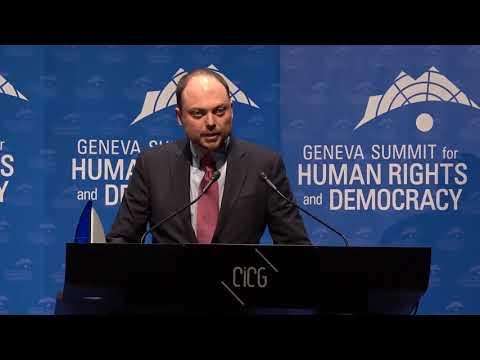 Vladimir Kara-Murza at Geneva Summit 2018
