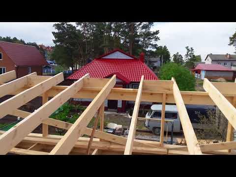 Как построить односкатную крышу гаража своими руками