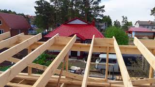 Крыша на гараже за 4 дня .