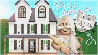 i made a LIFESIZE dollhouse! | ROBLOX Bloxburg