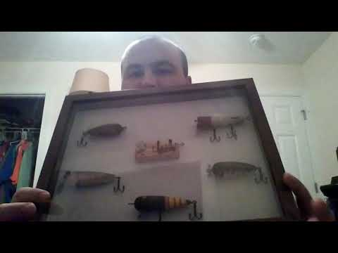 Shadow Box With Antique Fishing Lures