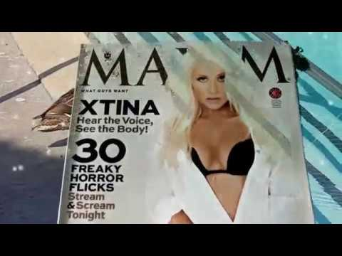 Maxim Magazine October 2013 Cover A Closer Look View Christina Aguilera