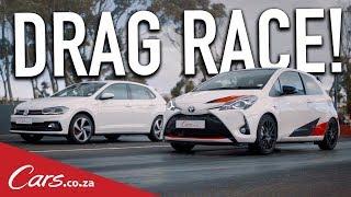 Drag Race - VW Polo GTI vs Toyota Yaris GRMN