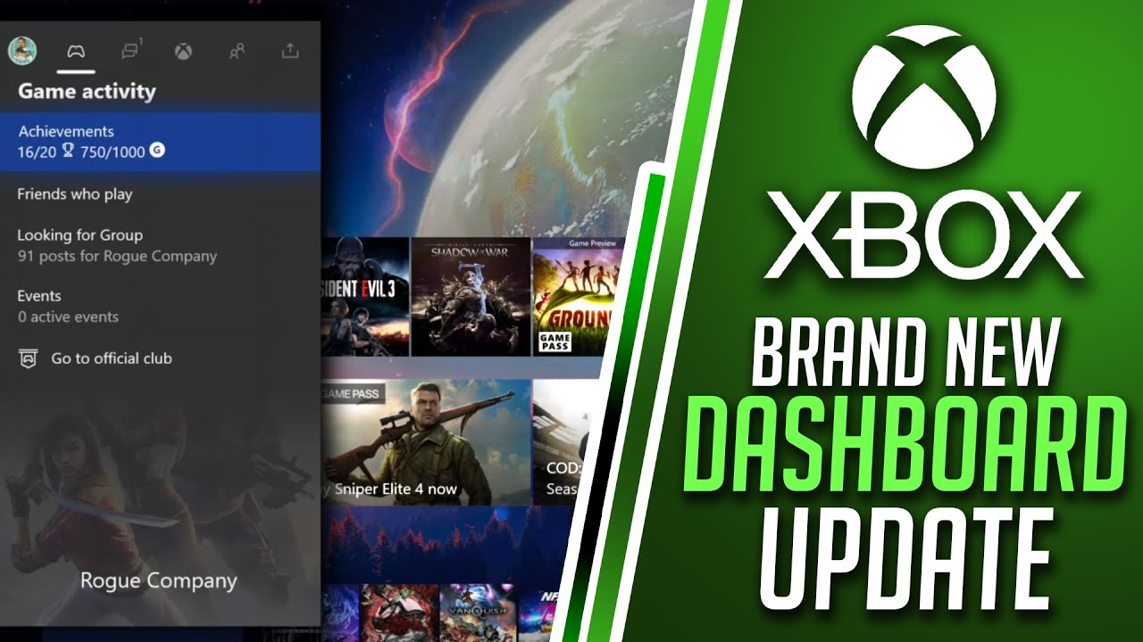 Brand New Xbox Dashboard Update BIG CHANGES | Game Activity, Happening Now & More | Xbox News