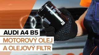 Jak vyměnit Olejovy filtr A4 Avant (8D5, B5) - video příručky krok za krokem