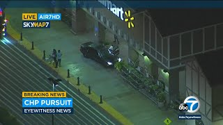 Police chase ends after suspect runs into OC Walmart  I ABC7