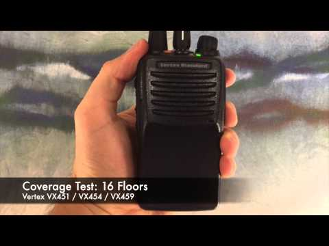 Radio Coverage Test: Vertex VX451 / VX454 / VX459 (Inside Building)