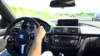 bmw 435i onboard acceleration drive autobahn cockpit view f33 6 cylinder sound beschleunigung
