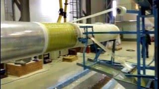 видео: Намотка стеклопластика на оправку D 600 мм (Станок СГН-600/2400, серия 02)